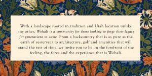 Wohali Community in Park City Description